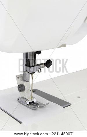 sewing-machine under the white background