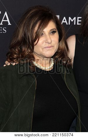 LOS ANGELES - JAN 6:  Amy Pascal at the 2018 BAFTA Tea Party Arrivals at the Four Seasons Hotel Los Angeles on January 6, 2018 in Beverly Hills, CA
