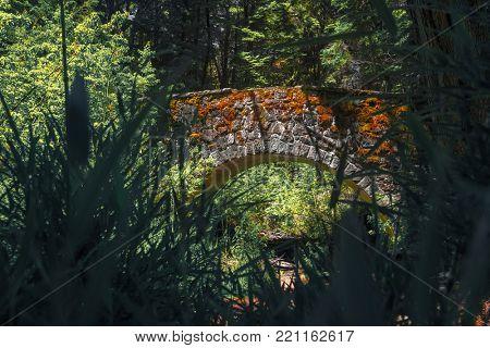Ancient Roman Bridge (Puente Romano) near the city of Bariloche, Argentina
