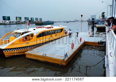River Boat At Pier