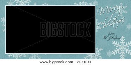 Snowflakes Christmas Card Horizontal