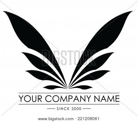 logo wings illustration and conceptual . wings logo company. wings brand logo vector