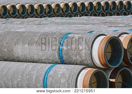 Storage of Pipes in the Port of Varna, Bulgaria