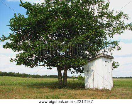 Old Kansas Outhouse