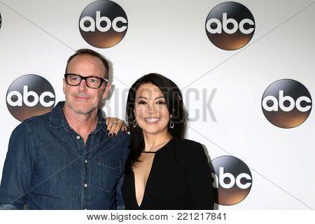 LOS ANGELES - JAN 8:  Clark Gregg, Ming-Na Wen at the ABC TCA Winter 2018 Party at Langham Huntington Hotel on January 8, 2018 in Pasadena, CA