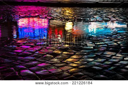 Abstract Urban Background. Lights And Shadows Of The City