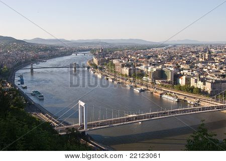A panorama of Budapest from Gellert Hill