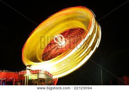 Fairground Ride at Night