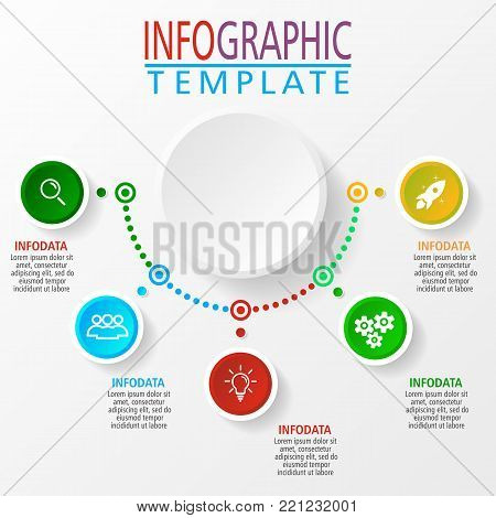 Presentation business infographic template in vector. Can be used for websites, templates, business presentation, banners, design.