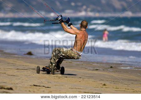 Kite Surfer on Beach