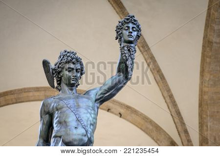 Perseus with the Head of Medusa is a bronze sculpture made by Benvenuto Cellini in 1545. The sculpture stands upon on a square base with bronze relief panels depicting the story of Perseus and Andromeda, similar to a predella on an altarpiece. It is locat