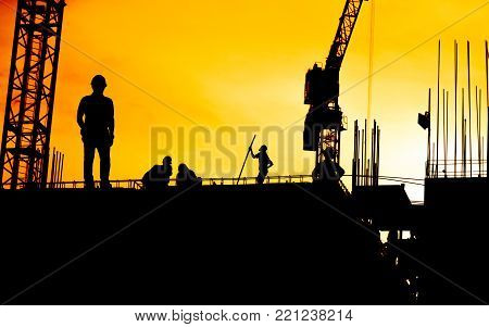 Construction Worker Working On A Construction Site,for Construction Teams To Work In Heavy Industry,