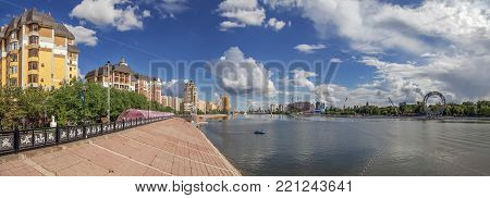 The Ishim River is one of the largest rivers in Kazakhstan, the tributary of the Irtysh.