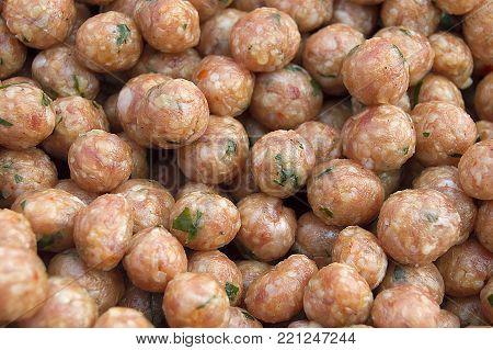 juicy meatballs, tiny tiny rolls to make beef and watery dumplings,