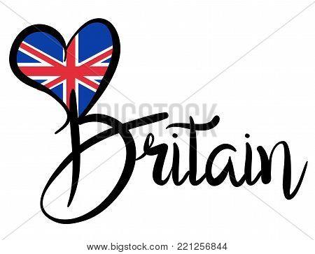 I Love Britain - Vector Graphic Illustration