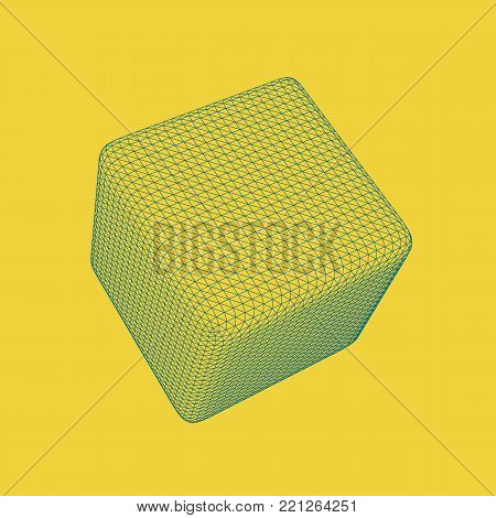 3D Cube Vector Illustration