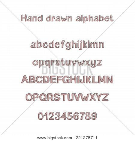 Decorative hand drawn vector photo free trial bigstock decorative hand drawn alphabet handwritten vector brush font modern abc uppercase lowercase m4hsunfo