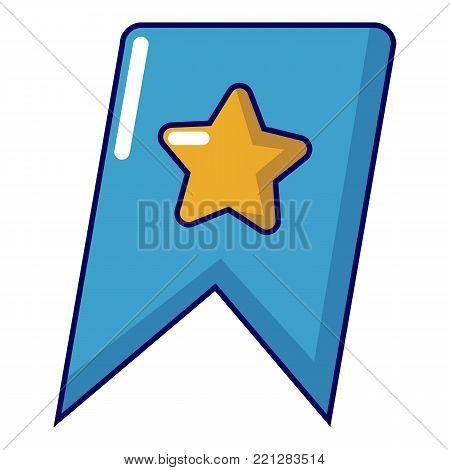Bookmark browser icon. Cartoon illustration of bookmark browser vector icon for web
