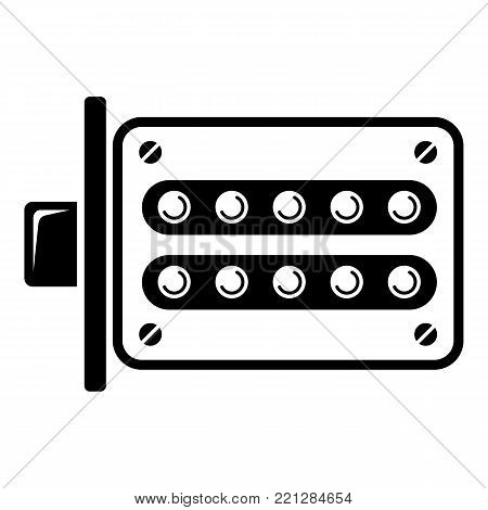 Push button lock icon. Simple illustration of push button lock vector icon for web.