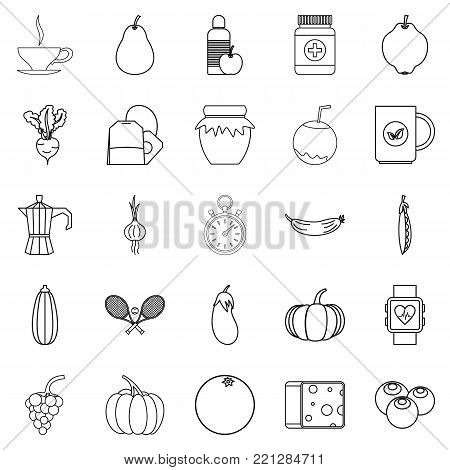 Allowance icons set. Outline set of 25 allowance vector icons for web isolated on white background