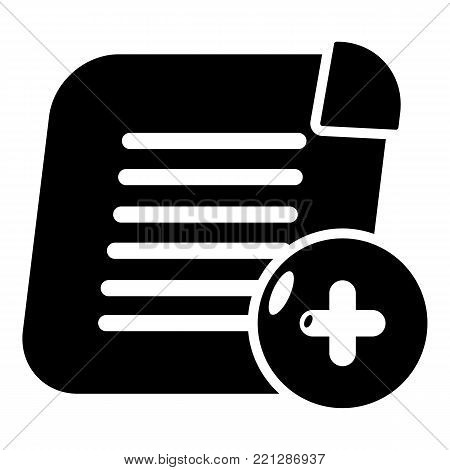 Add new icon. Simple illustration of add new vector icon for web