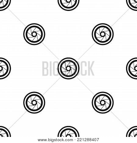 Big objective pattern repeat seamless in black color for any design. Vector geometric illustration