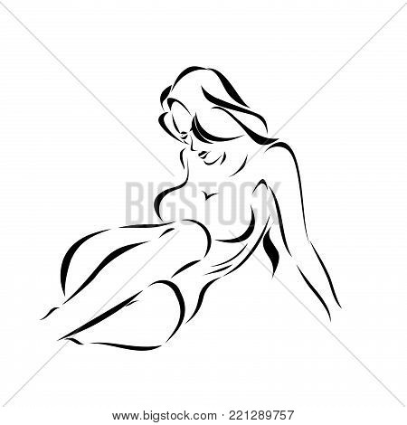 beautiful young woman beautiful silhouette outlines female body figure outline from hand female beauty and health appearance appeal image pattern forms