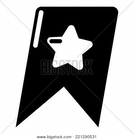Bookmark browser icon. Simple illustration of bookmark browser vector icon for web