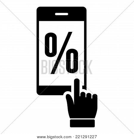 Percent on screen icon. Simple illustration of percent on screen vector icon for web.