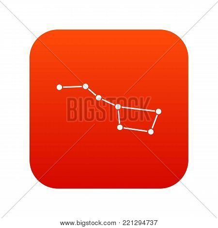 The Great Bear constellation icon digital red for any design isolated on white vector illustration