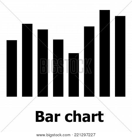 Bar chart icon. Simple illustration of bar chart vector icon for web.
