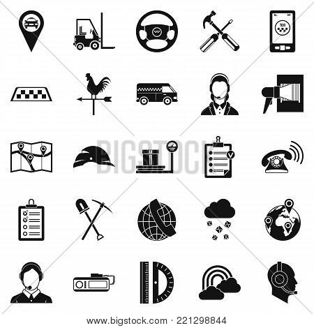 Supervisor icons set. Simple set of 25 supervisor vector icons for web isolated on white background