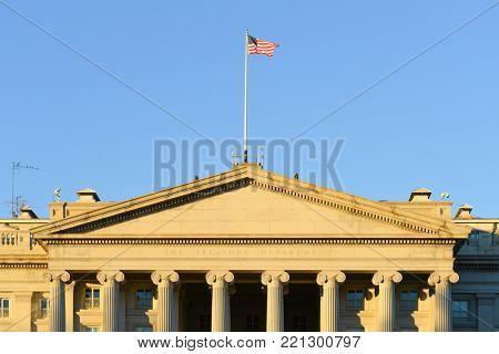 The Treasury Department Building - Washington DC United States
