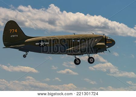 READING, PA - JUNE 3, 2017: CURTISS C-46