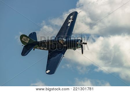 READING, PA - JUNE 3, 2017: CURTISS-WRIGHT SB2C-5