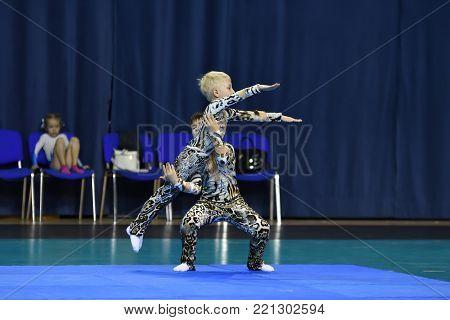 Orenburg, Russia, 26-27 May 2017 Years: Juniors Compete In Sports Acrobatics