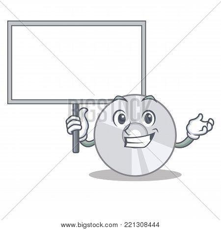 Bring board CD character cartoon style vector illustration