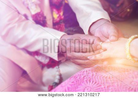 Wedding, marriage ceremony, bridal groom, wedding ring