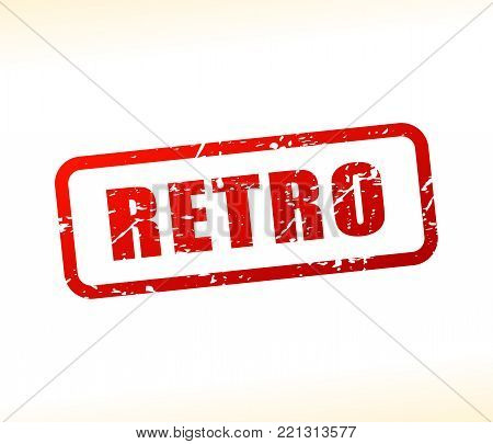 Illustration of retro text buffered on white background