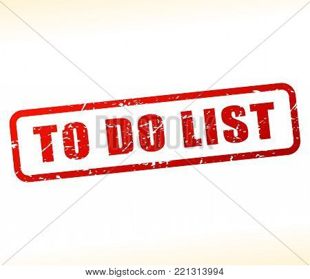 Illustration of to do list text buffered on white background