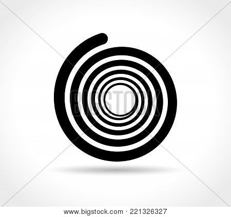 Illustration of spiral abstract icon on white background