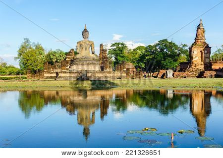 Wat Mahathat Temple in the precinct of Sukhothai Historical Park, Thailand