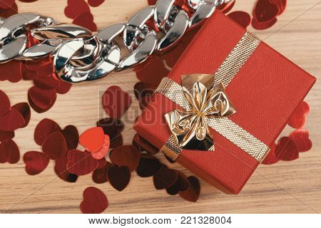 Woman Bracelet On Wooden Background