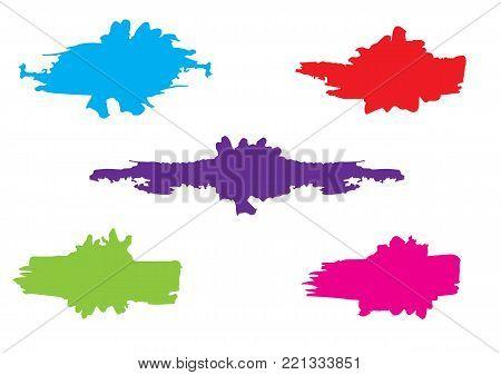 Vector color paint splatter. Paint splatter set.Vector illustration.