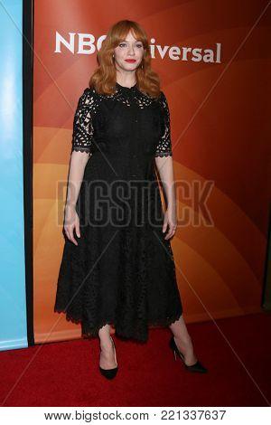 LOS ANGELES - JAN 9:  Christina Hendricks at the NBC TCA Winter Press Tour at Langham Huntington Hotel on January 9, 2018 in Pasadena, CA