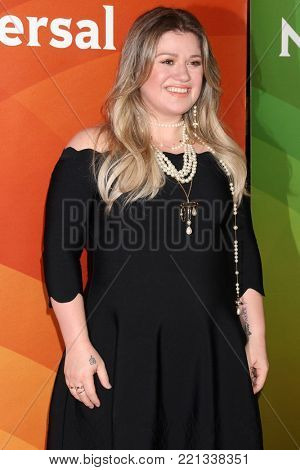 LOS ANGELES - JAN 9:  Kelly Clarkson at the NBC TCA Winter Press Tour at Langham Huntington Hotel on January 9, 2018 in Pasadena, CA