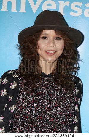 LOS ANGELES - JAN 9:  Rosie Perez at the NBC TCA Winter Press Tour at Langham Huntington Hotel on January 9, 2018 in Pasadena, CA