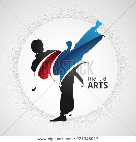 martial arts kick is suitable for your design