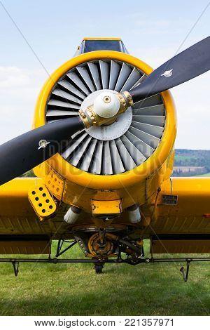 Zlin Z-37 Cmelak Czech Agricultural Airplane Used As Crop Duster