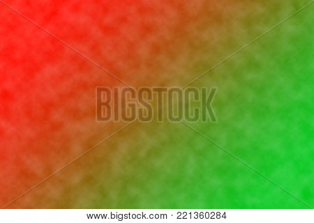 Complementary colors - red and green - as background